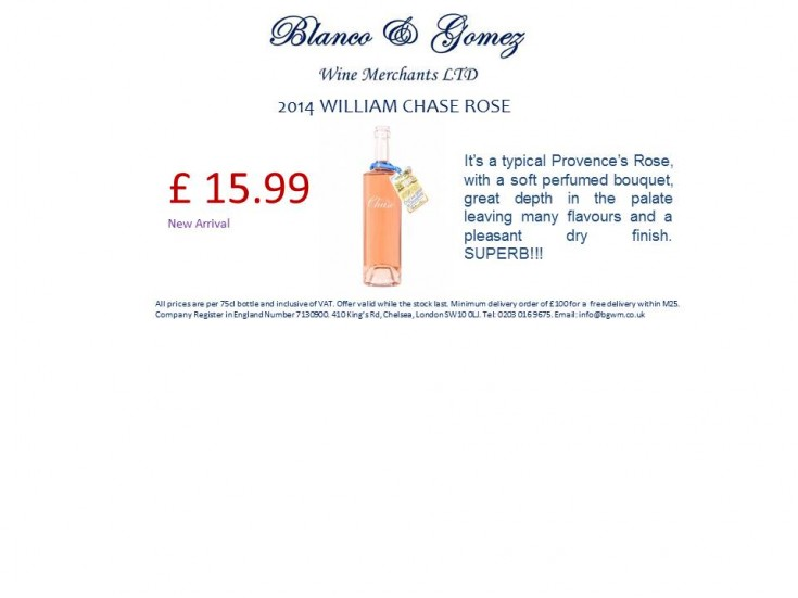 2014 William Chase Rose